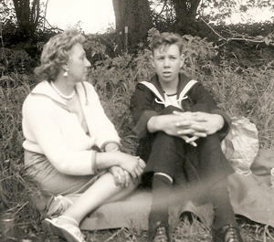 Colin Winter with his mum in Dover